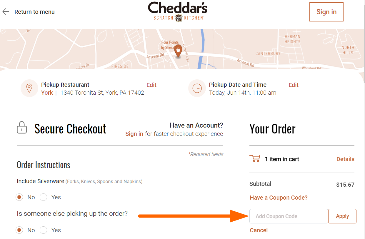 Cheddar's Coupon Code